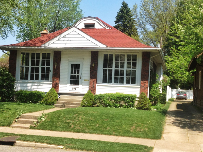 This Red Cottage In N.W. Erie, PA Needed Architectural Shingles To Complete  The Look The ...